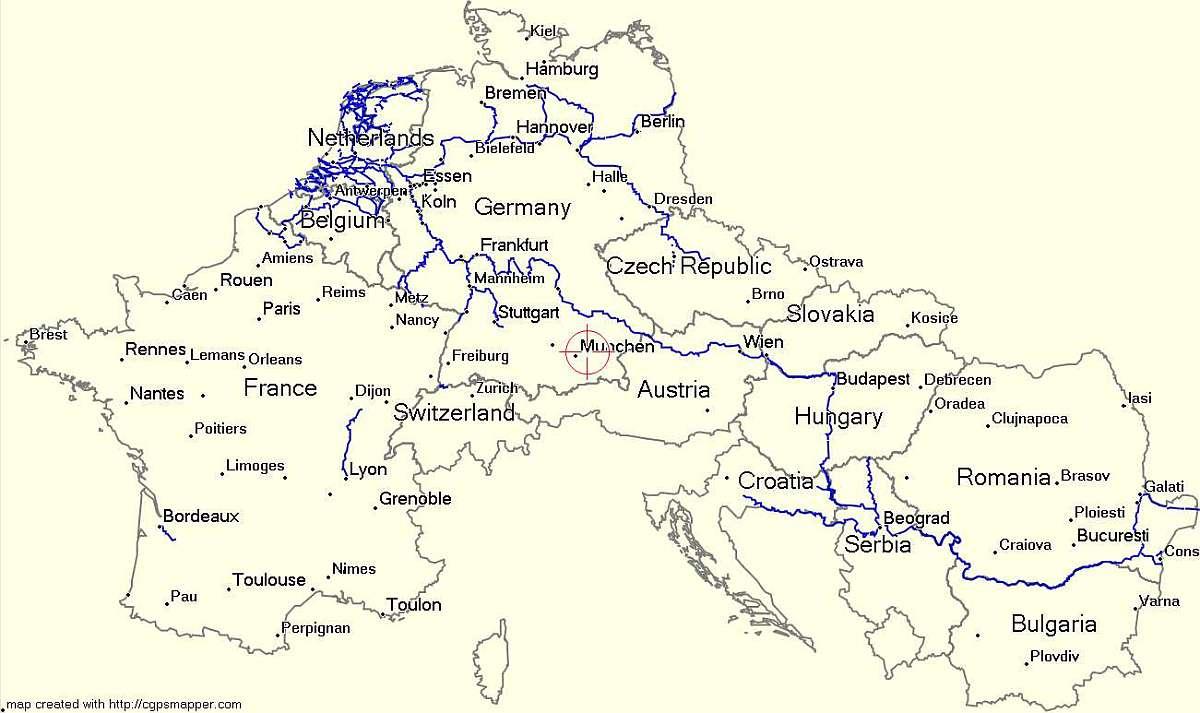 karta evrope sa putevima Garmin besplatna karta unutrašnjih plovnih puteva Evrope za vaš  karta evrope sa putevima